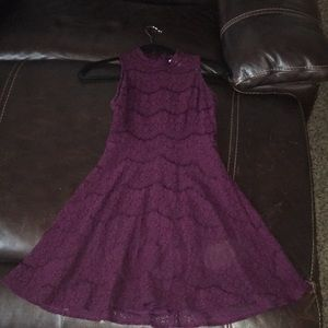 Francescas maroon cocktail dress